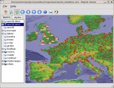 mapnik viewer